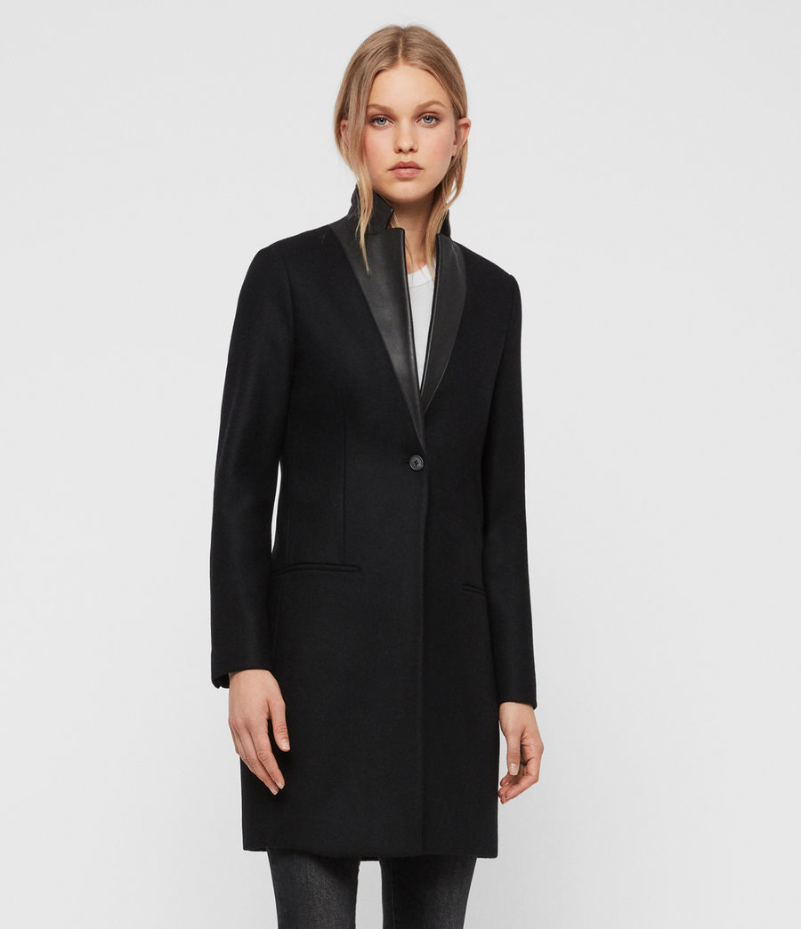 Womens Leni Lea Coat (black) - Image 5