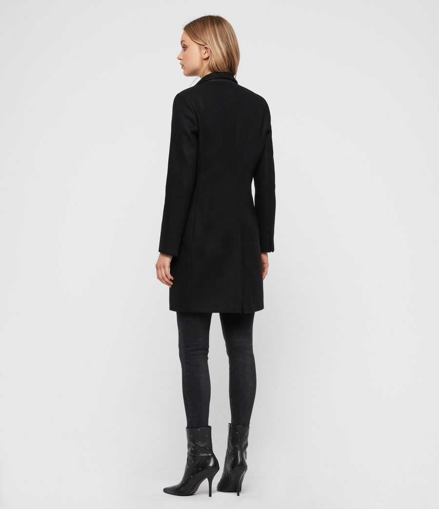 Womens Leni Lea Coat (black) - Image 6