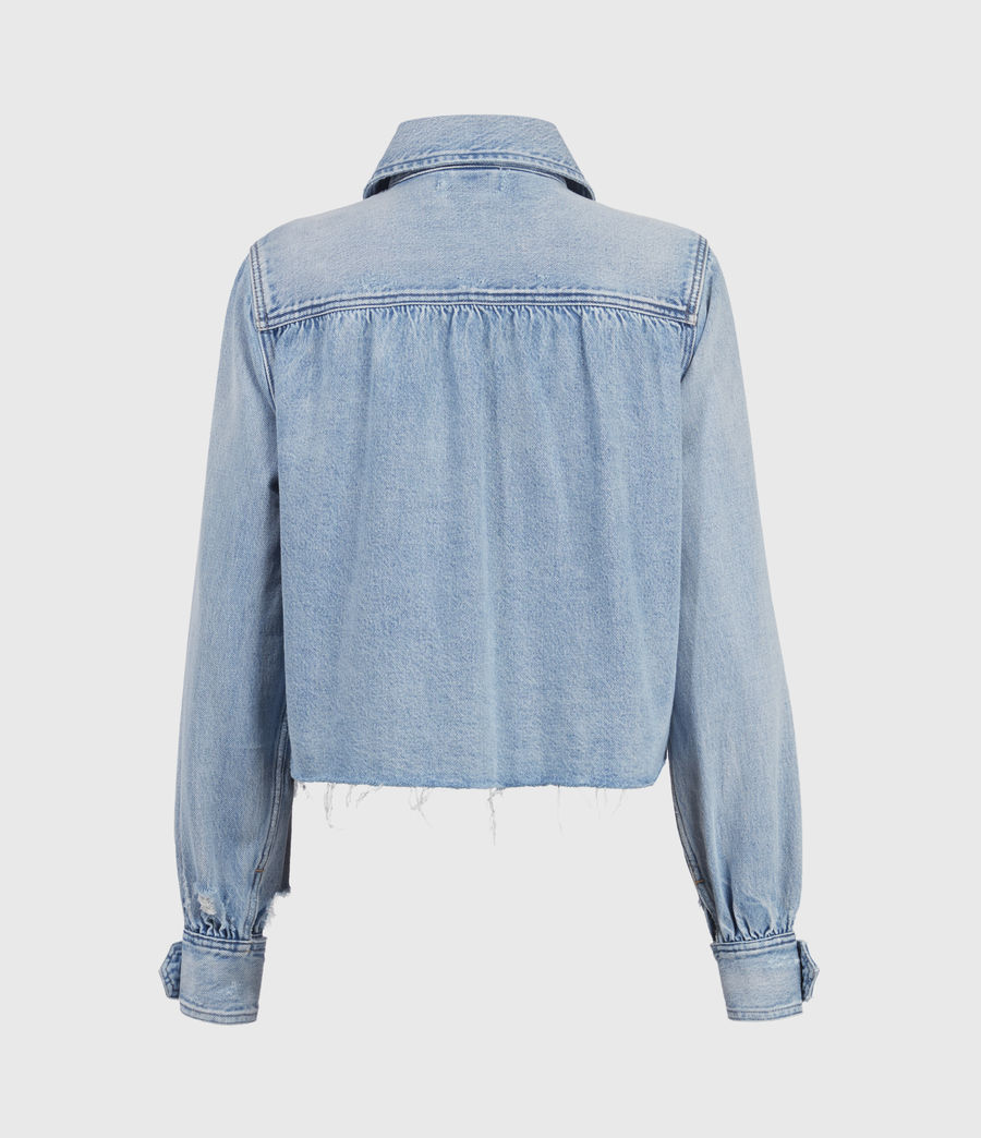 Women's Maisy Denim Shirt Jacket (light_indigo) - Image 2