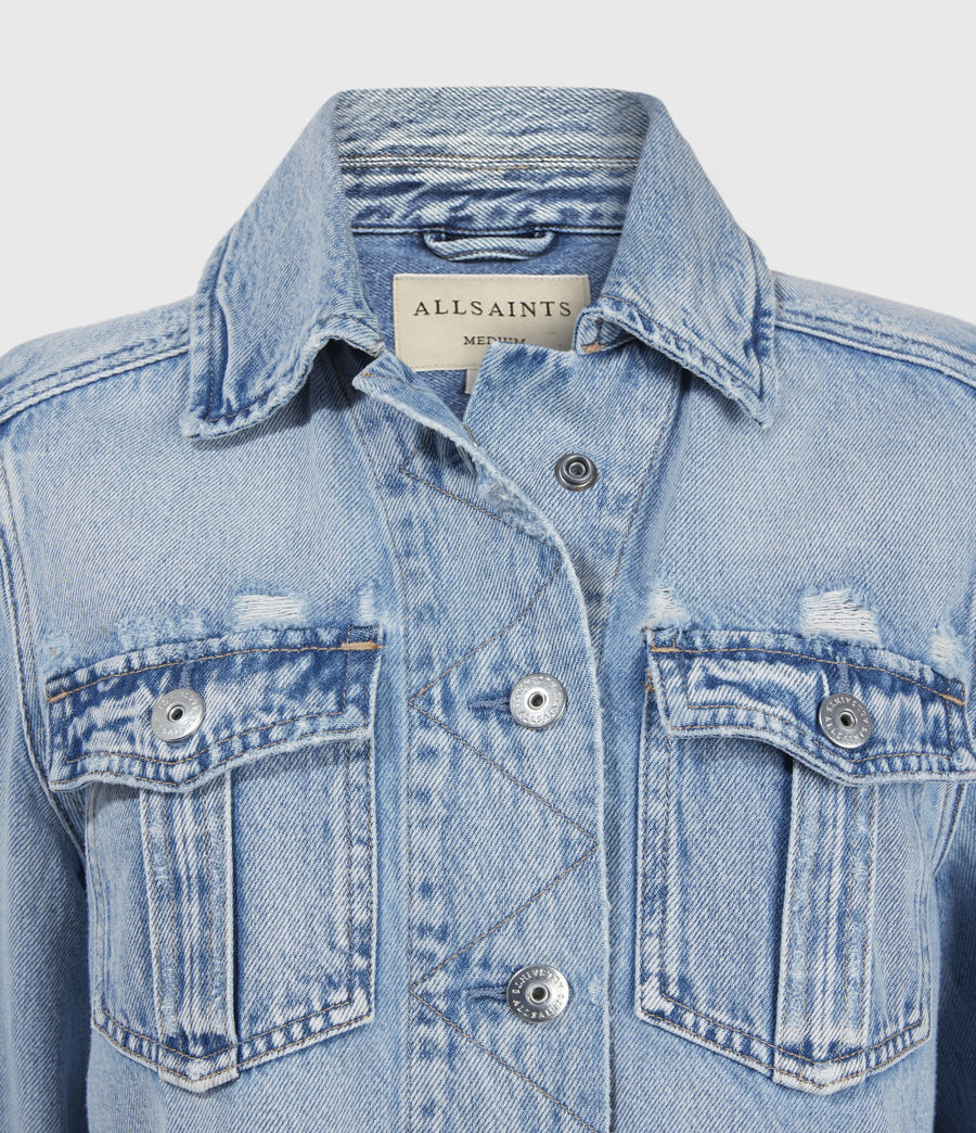 Women's Maisy Denim Shirt Jacket (light_indigo) - Image 3