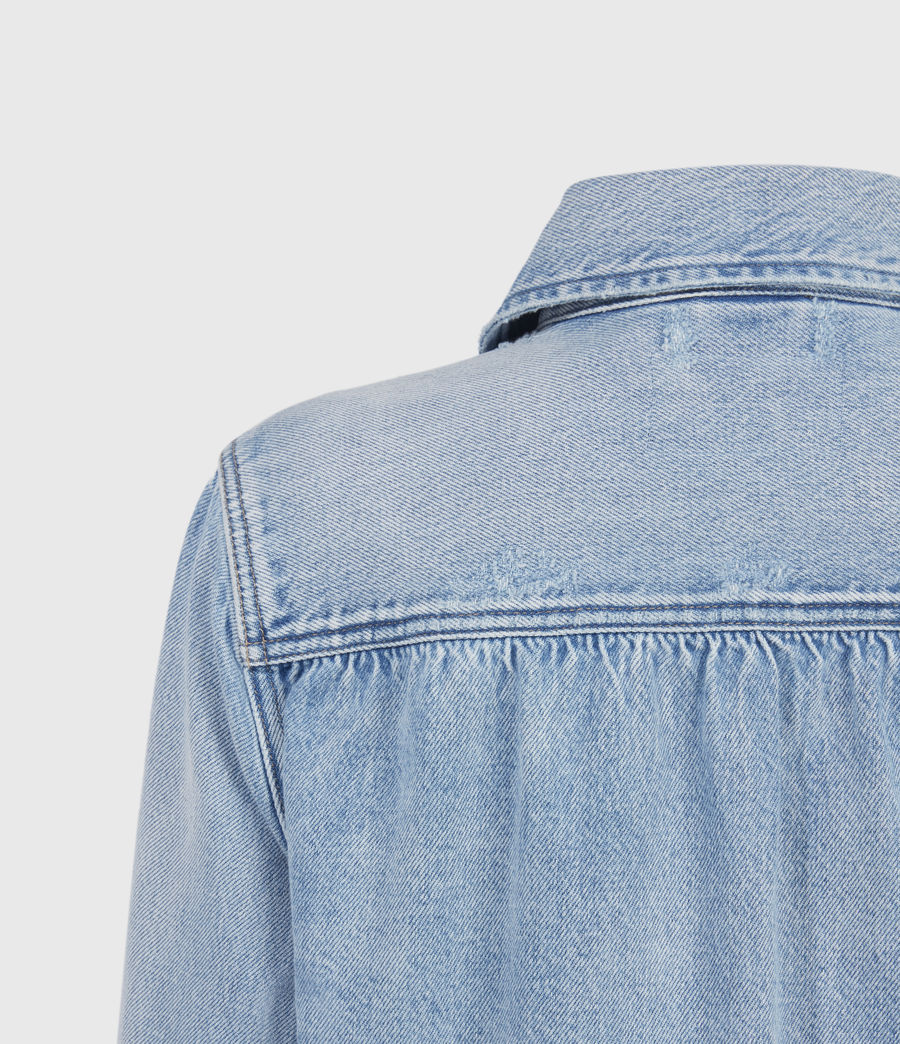 Women's Maisy Denim Shirt Jacket (light_indigo) - Image 5