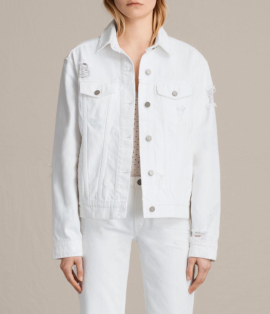 Damen Elm Denim Jacket (white) - Image 1