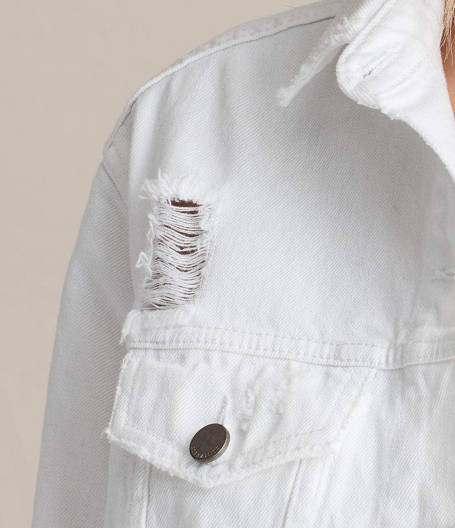 Damen Elm Denim Jacket (white) - Image 2