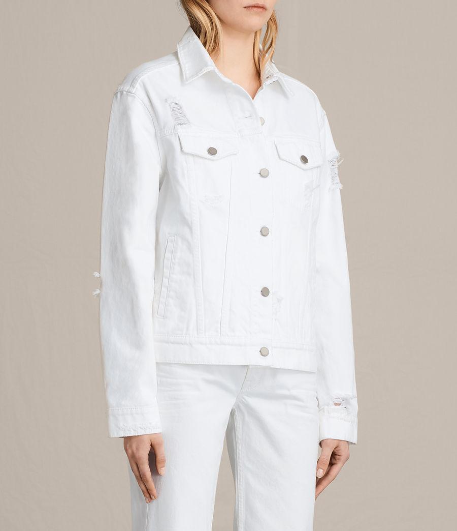 Damen Elm Denim Jacket (white) - Image 3