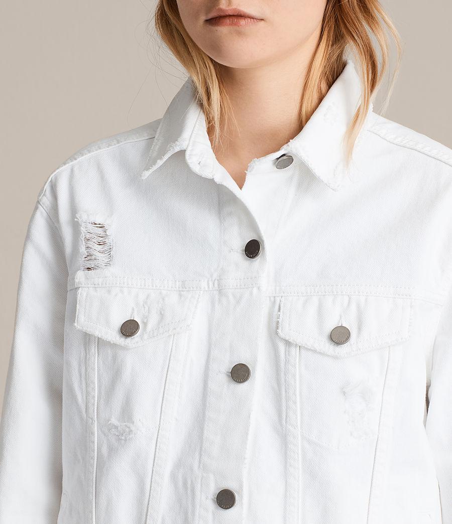 Damen Elm Denim Jacket (white) - Image 4