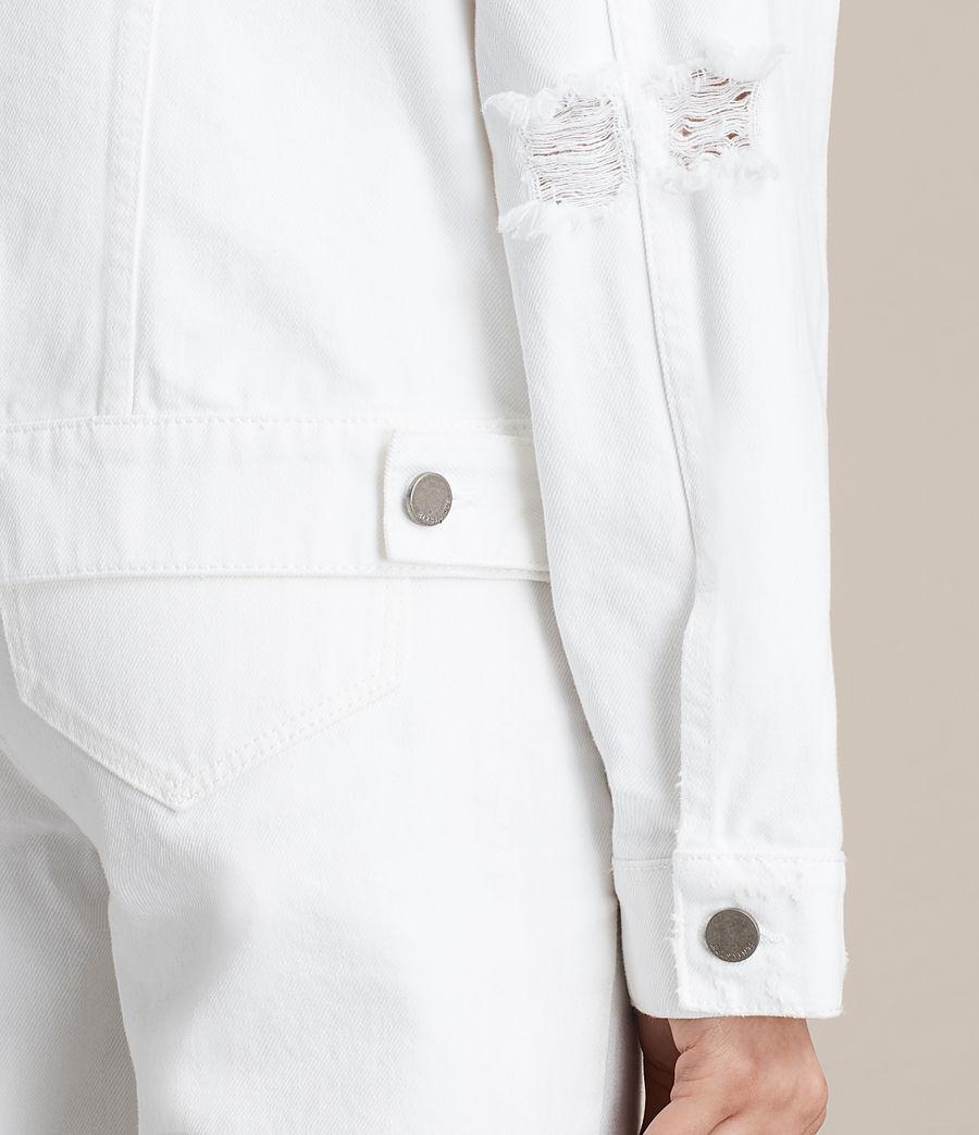 Damen Elm Denim Jacket (white) - Image 5