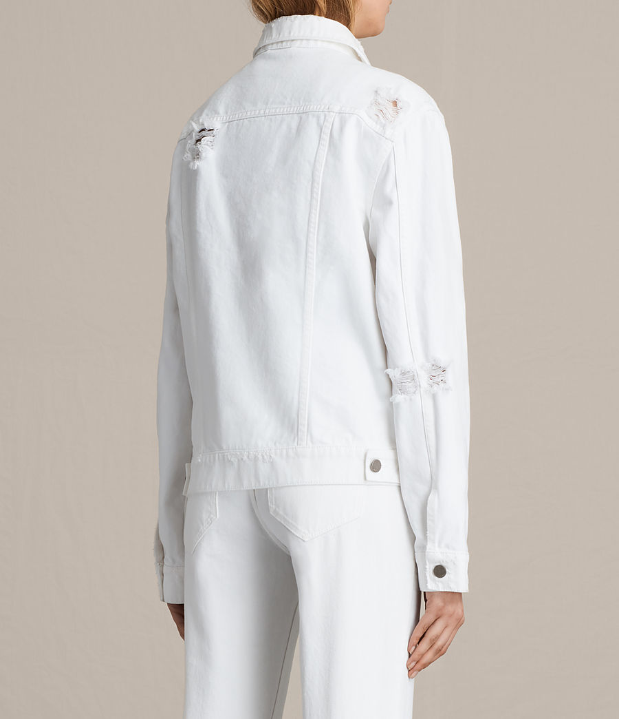 Damen Elm Denim Jacket (white) - Image 6