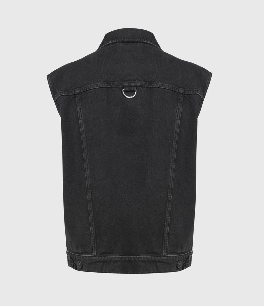 Womens Alva Denim Vest (black) - Image 3