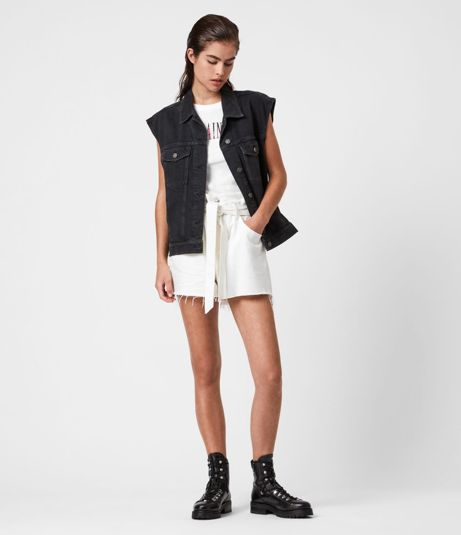 Womens Alva Denim Vest (black) - Image 7