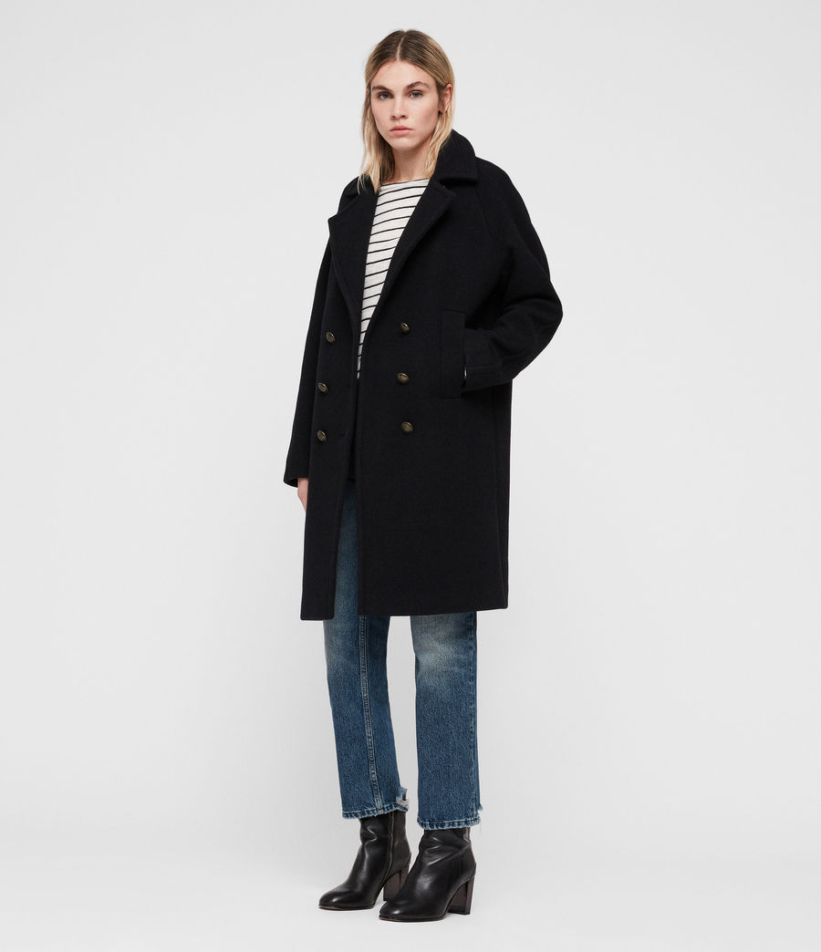 Women's Anita Coat (ink_blue) - Image 1