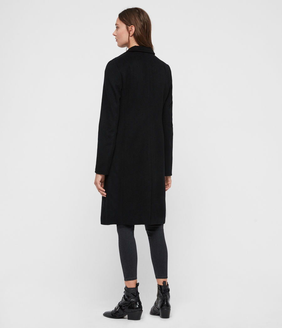 Women's Elora Wool Coat (black) - Image 6