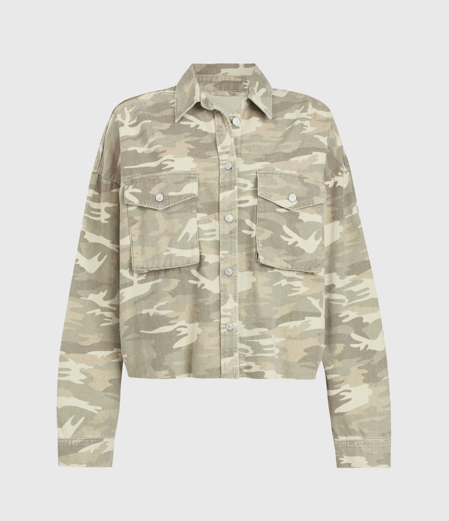 Women's Sol Camouflage Denim Shirt Jacket (camouflage_cream) - Image 1