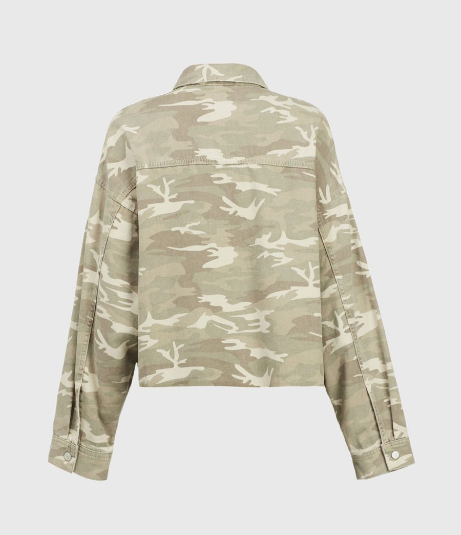 Women's Sol Camouflage Denim Shirt Jacket (camouflage_cream) - Image 2