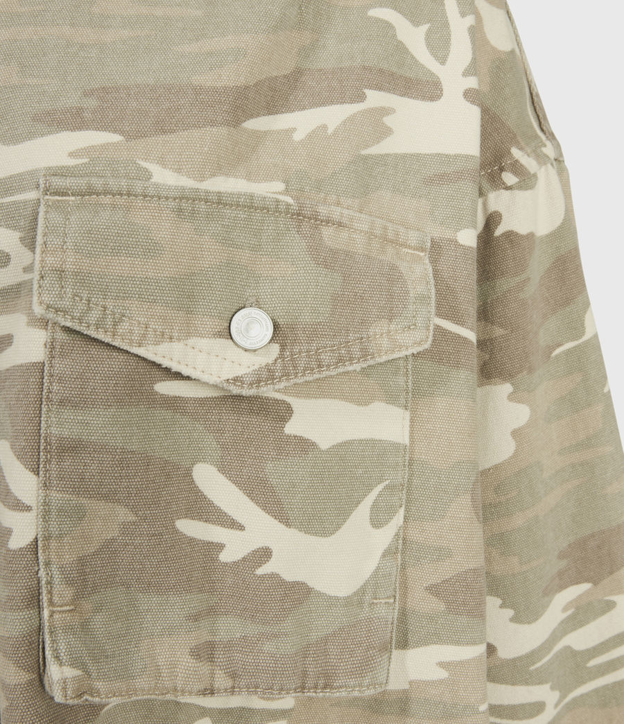 Women's Sol Camouflage Denim Shirt Jacket (camouflage_cream) - Image 4