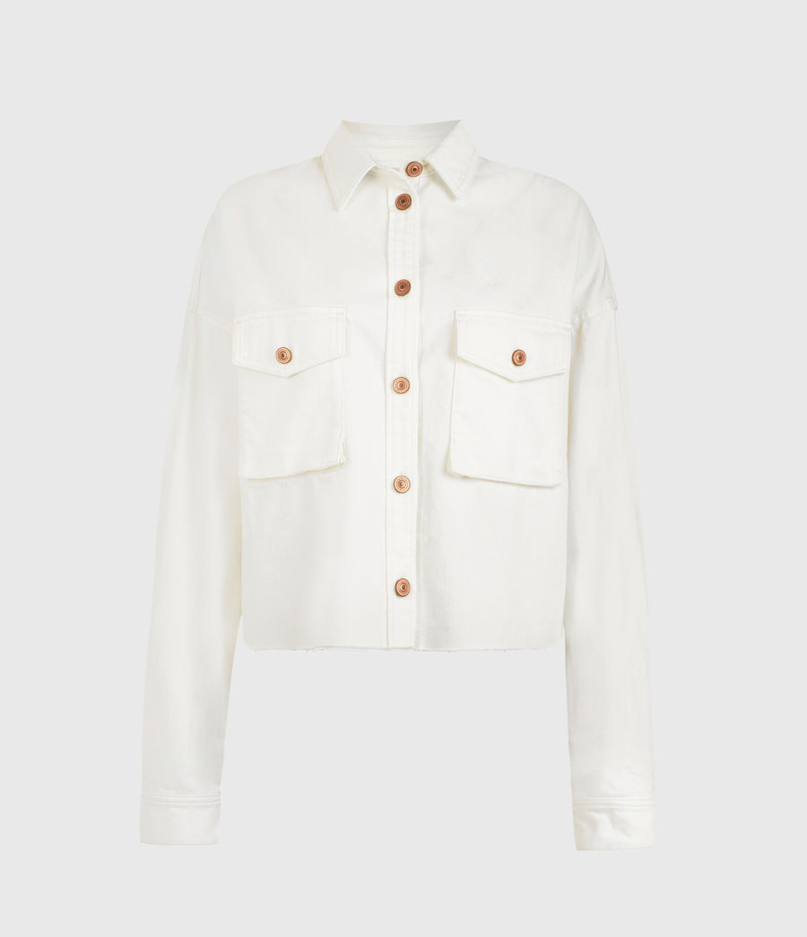 Womens Sol Denim Shirt Jacket (white) - Image 2