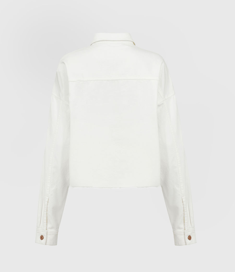 Women's Sol Denim Shirt Jacket (white) - Image 3