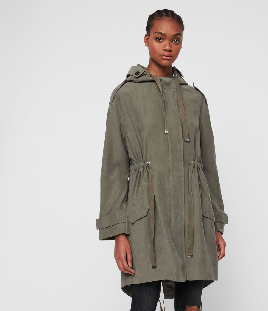 Womens Kelsie Parka Coat (khaki) - Image 4