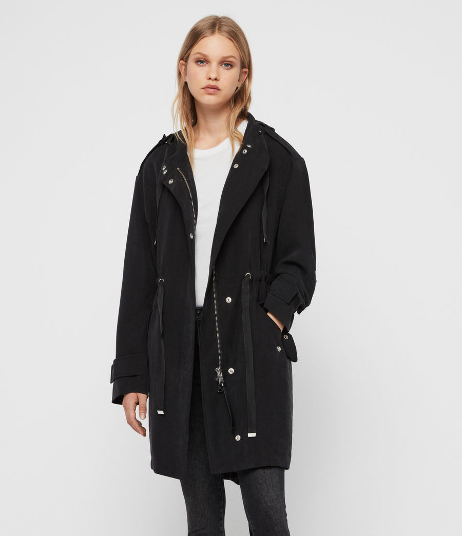 Women's Kelsie Parka Coat (black) - Image 1