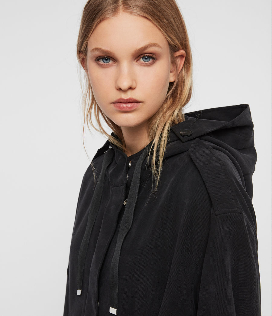 Women's Kelsie Parka Coat (black) - Image 2