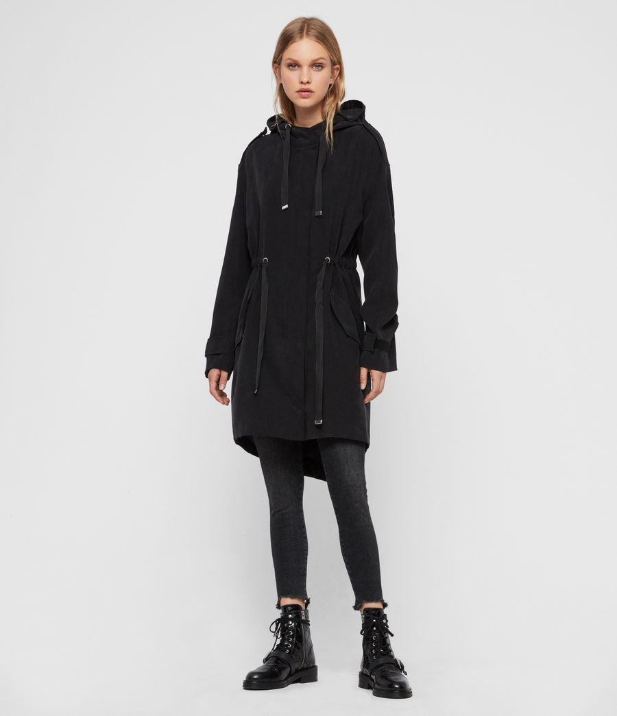 Women's Kelsie Parka Coat (black) - Image 3