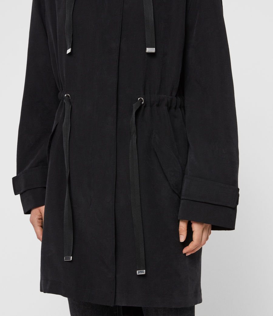 Women's Kelsie Parka Coat (black) - Image 4