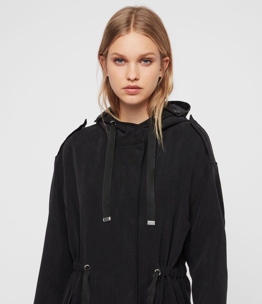 Women's Kelsie Parka Coat (black) - Image 5