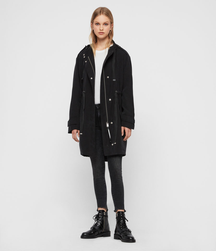 Women's Kelsie Parka Coat (black) - Image 6