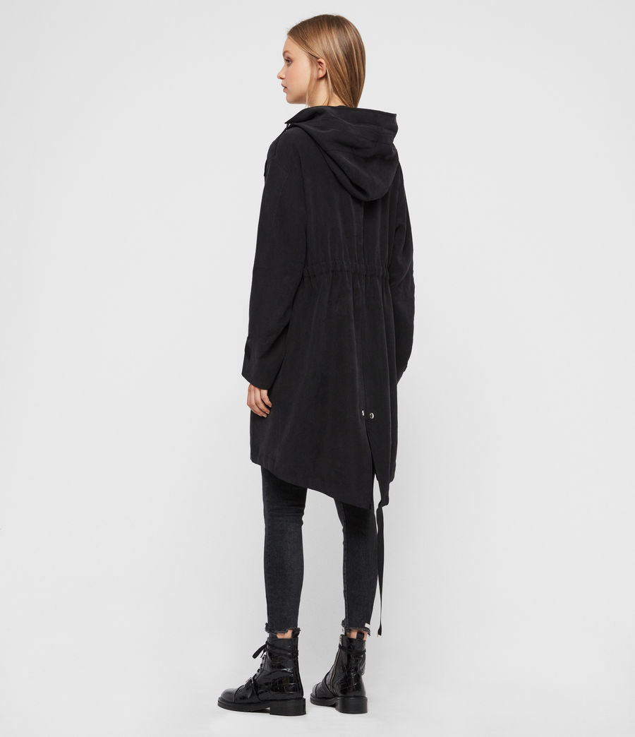 Women's Kelsie Parka Coat (black) - Image 7