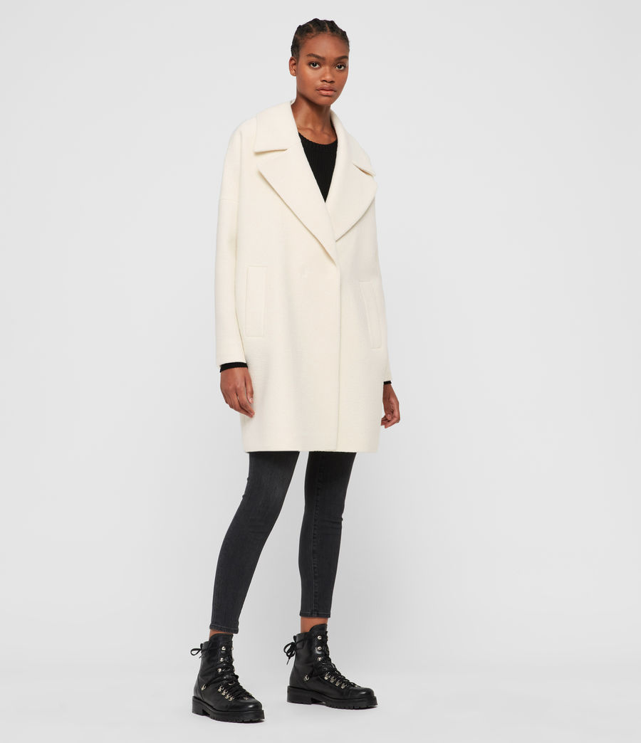 Womens Jetta Wool Coat (ecru_white) - Image 1