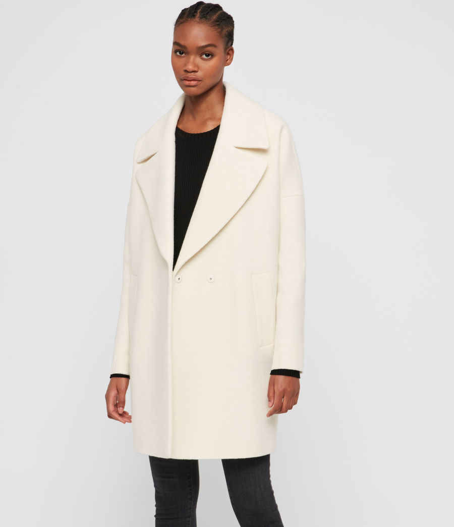 Womens Jetta Wool Coat (ecru_white) - Image 3
