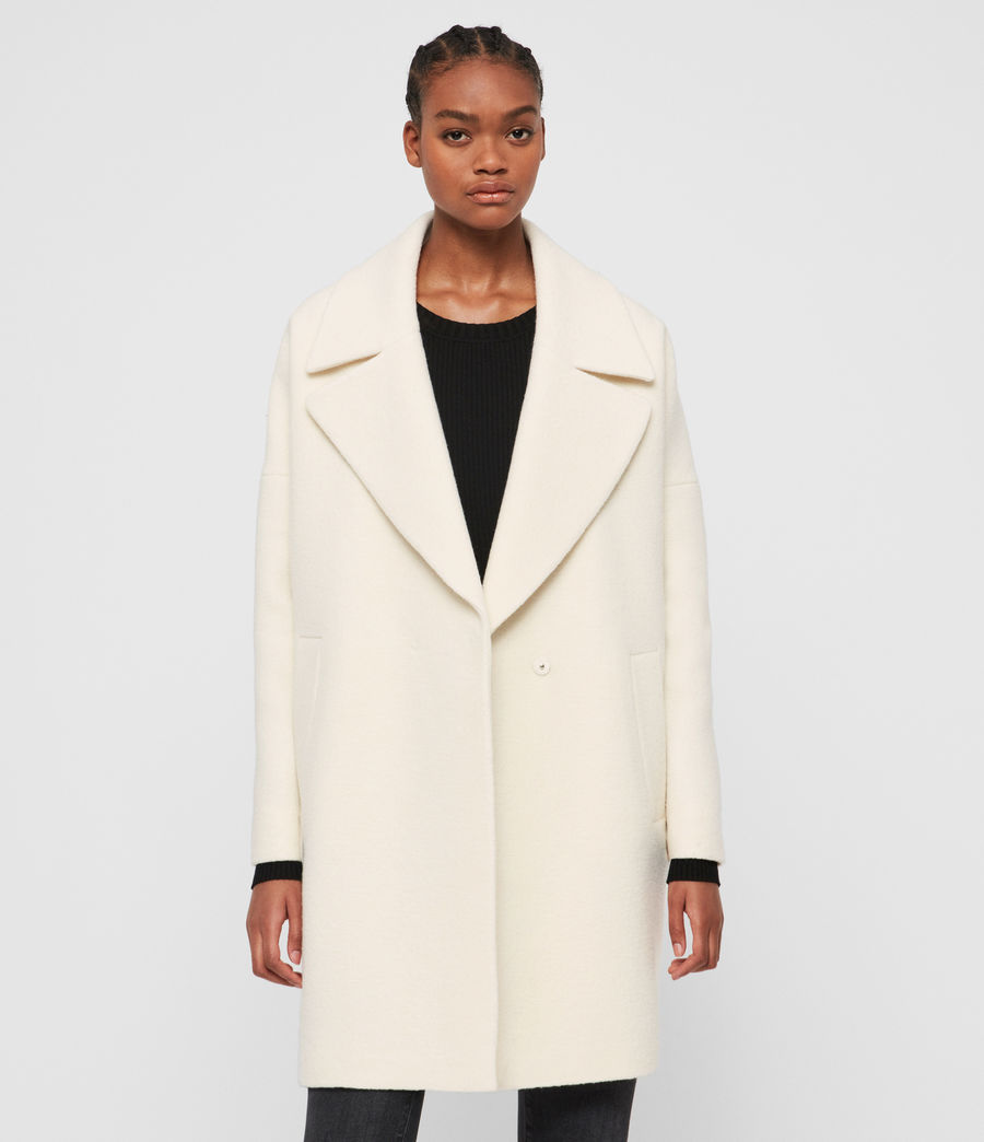 Womens Jetta Wool Coat (ecru_white) - Image 4