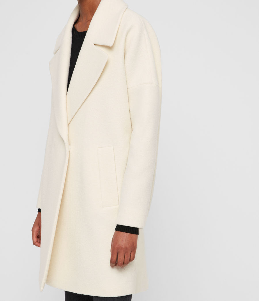 Womens Jetta Wool Coat (ecru_white) - Image 5