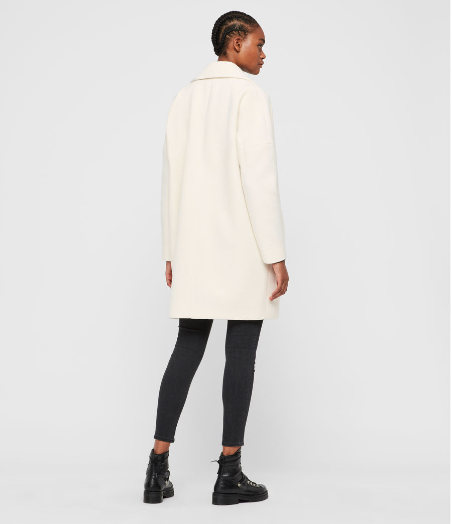 Womens Jetta Wool Coat (ecru_white) - Image 6