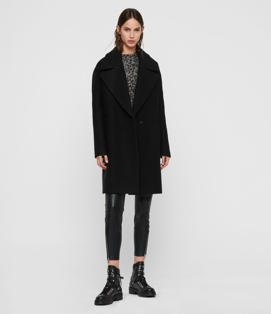 Women's Jetta Coat (black) - Image 1
