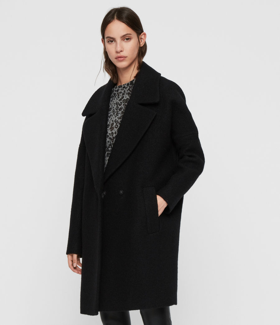 Women's Jetta Coat (black) - Image 2