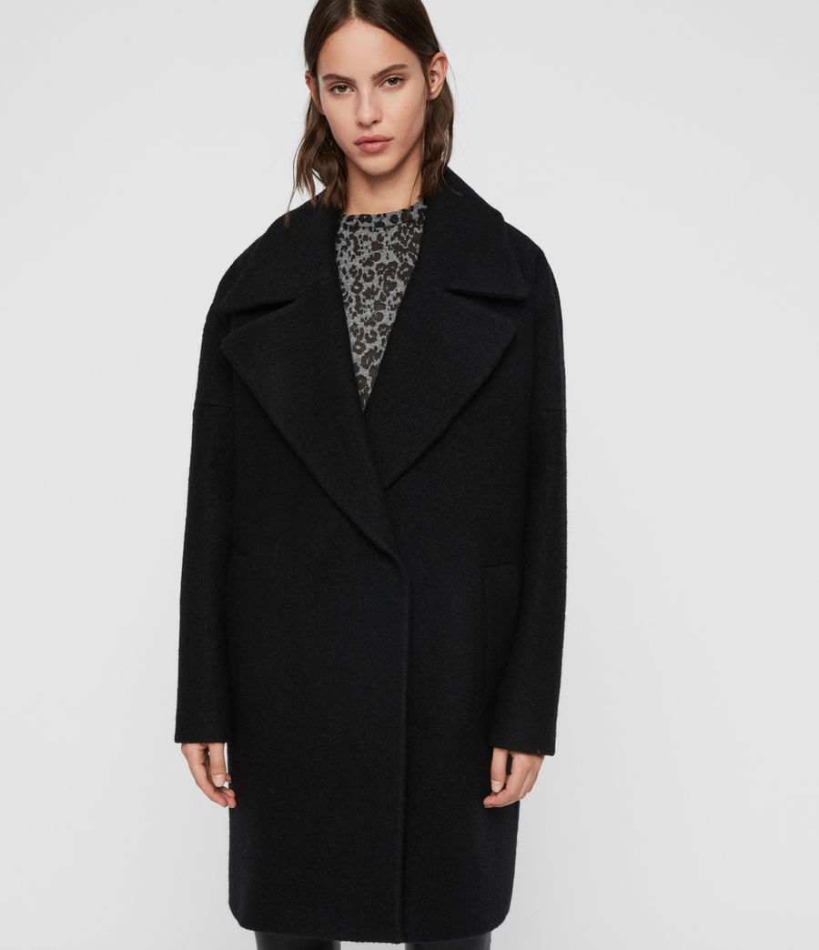 Women's Jetta Coat (black) - Image 4