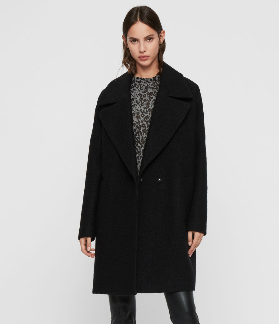 Women's Jetta Coat (black) - Image 5