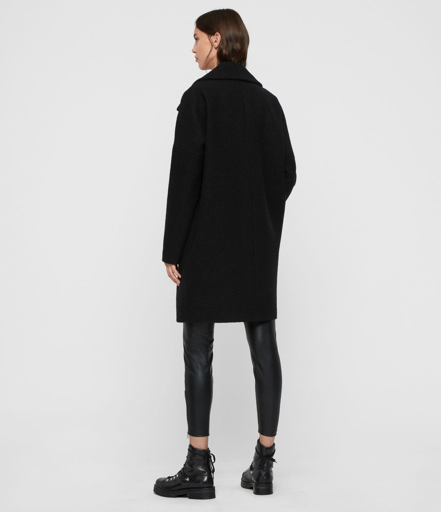 Women's Jetta Coat (black) - Image 6