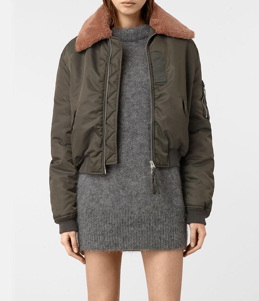 Women's Luca Bomber Jacket (khaki_green) - Image 1