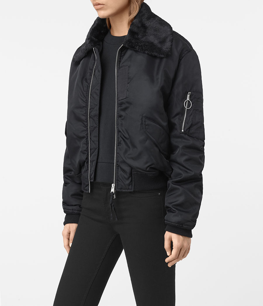 Women's Luca Bomber Jacket (ink_blue) - Image 3
