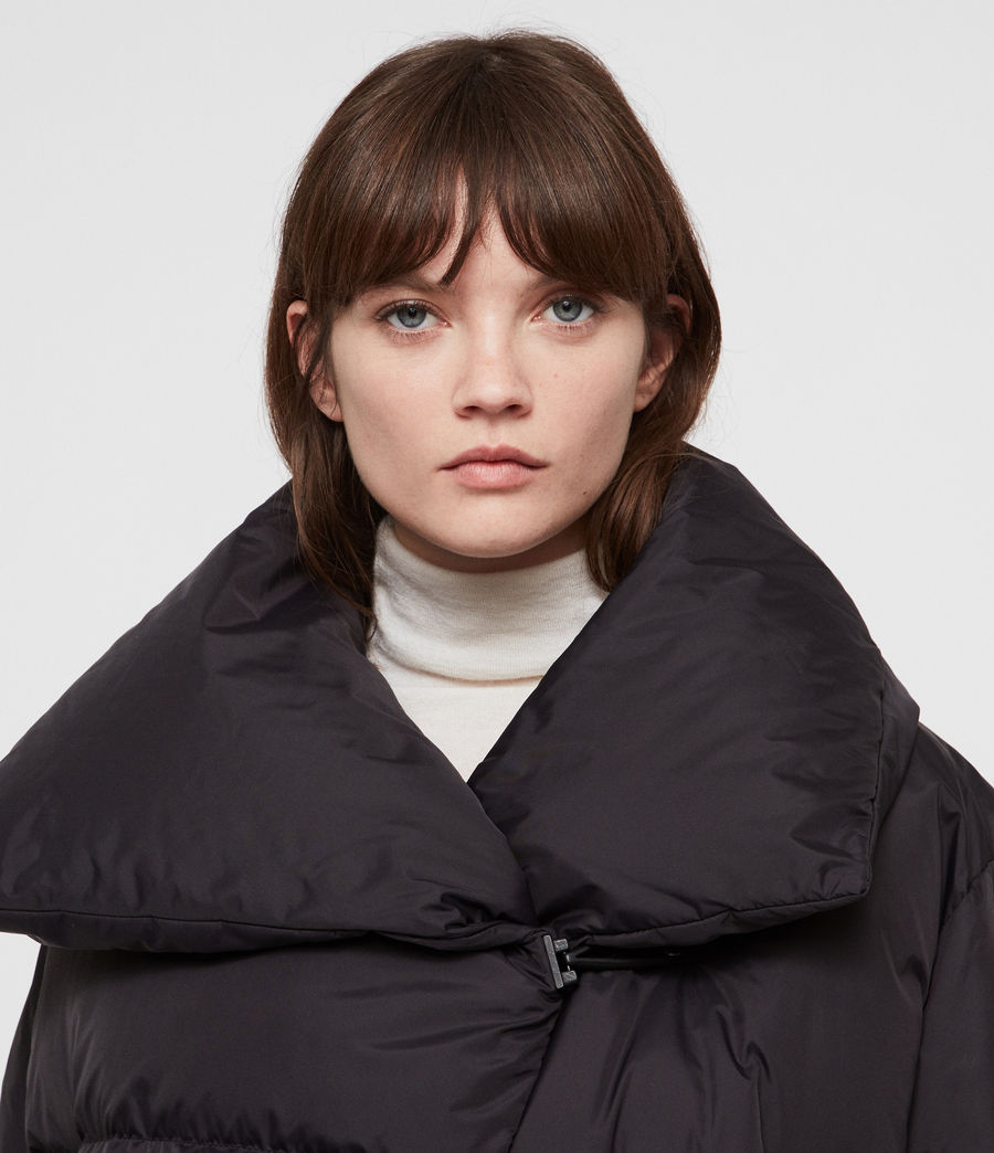 Women's Vrai Avia Puffer Coat (black) - Image 2