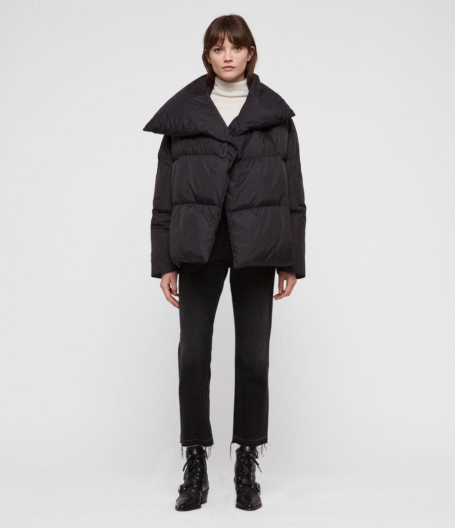 Women's Vrai Avia Puffer Coat (black) - Image 4