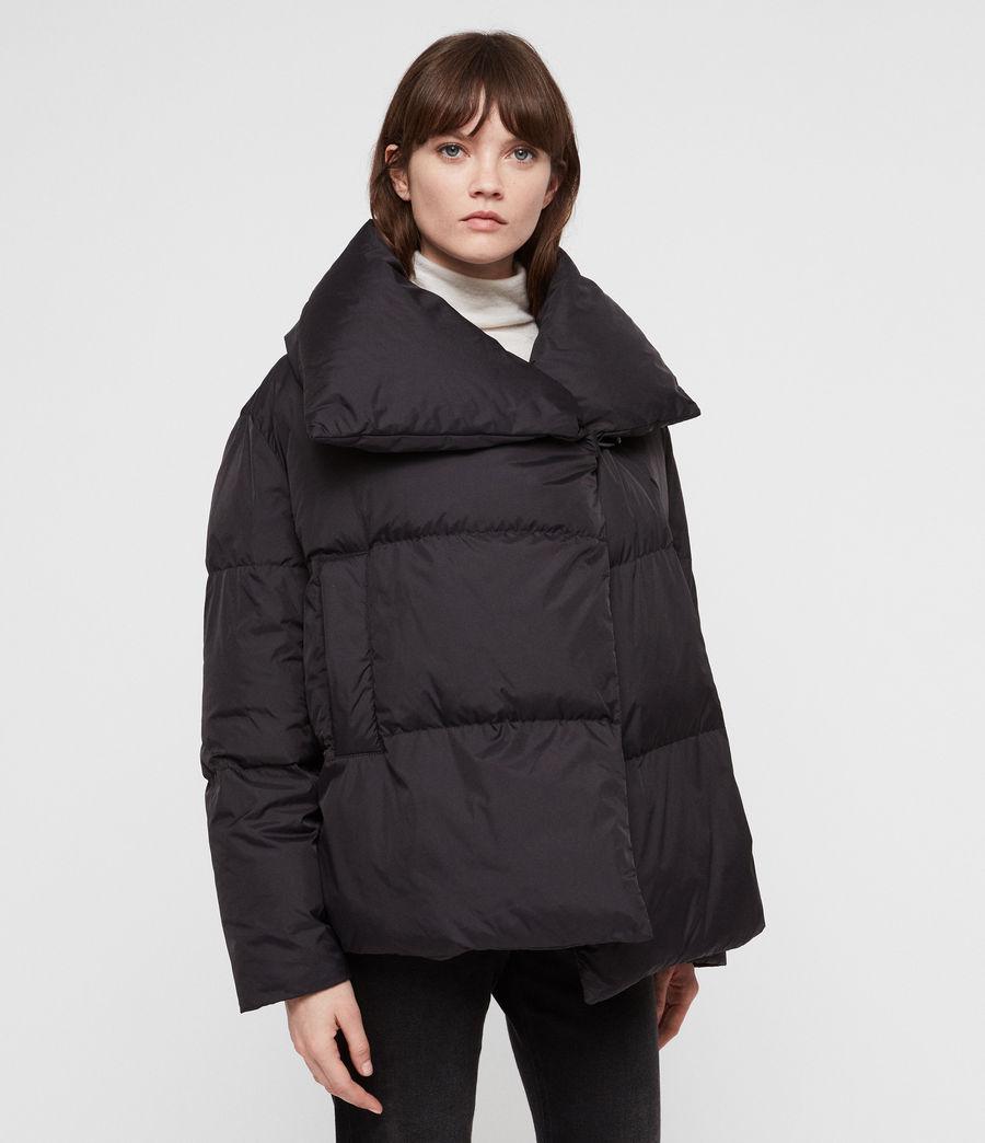 Women's Vrai Avia Puffer Coat (black) - Image 6