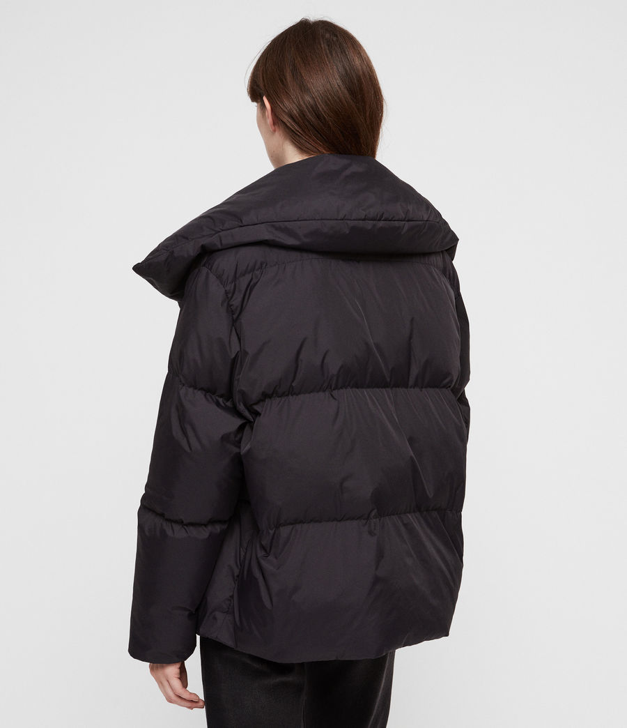 Women's Vrai Avia Puffer Coat (black) - Image 7