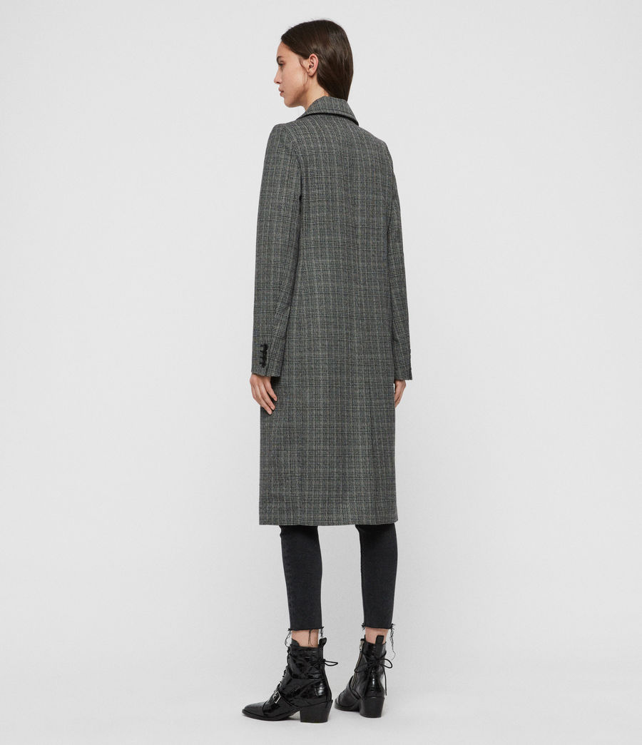 Women's Blair Check Coat (black) - Image 6