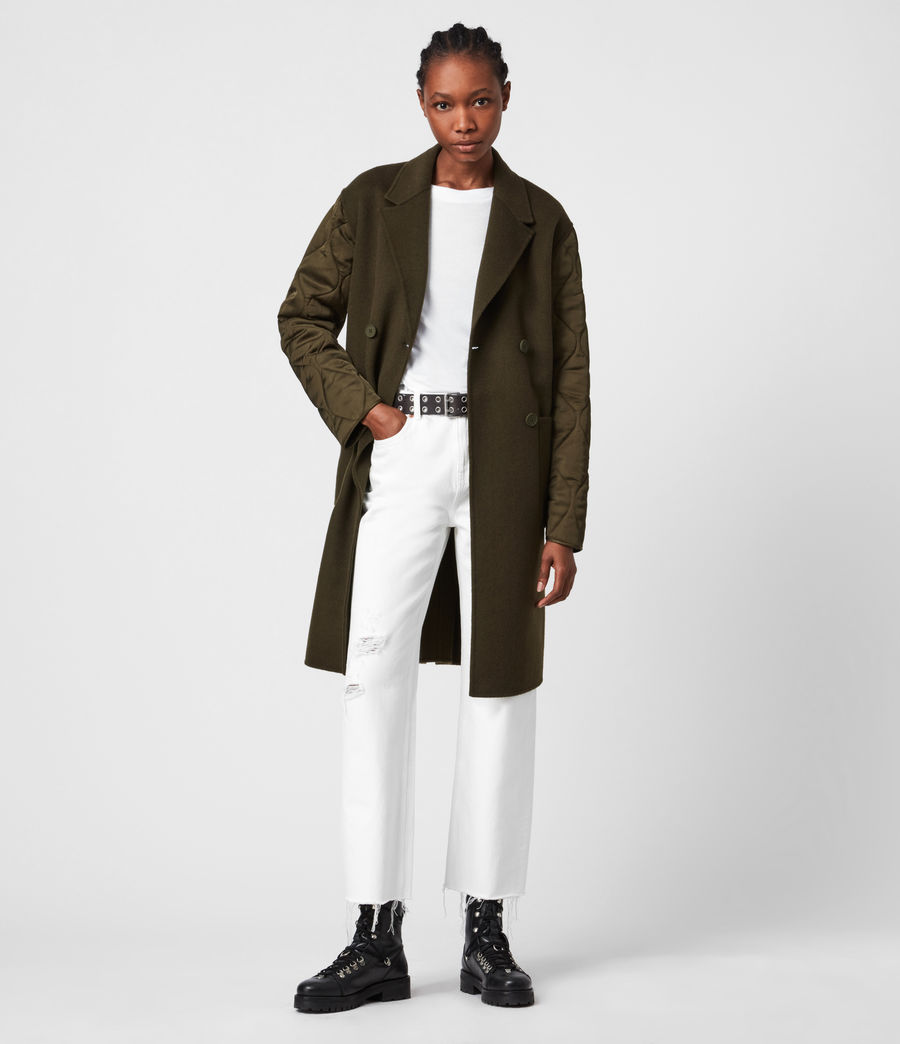 Women's Florence Coat (khaki_green) - Image 1