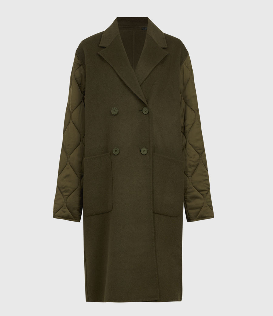 Women's Florence Coat (khaki_green) - Image 2