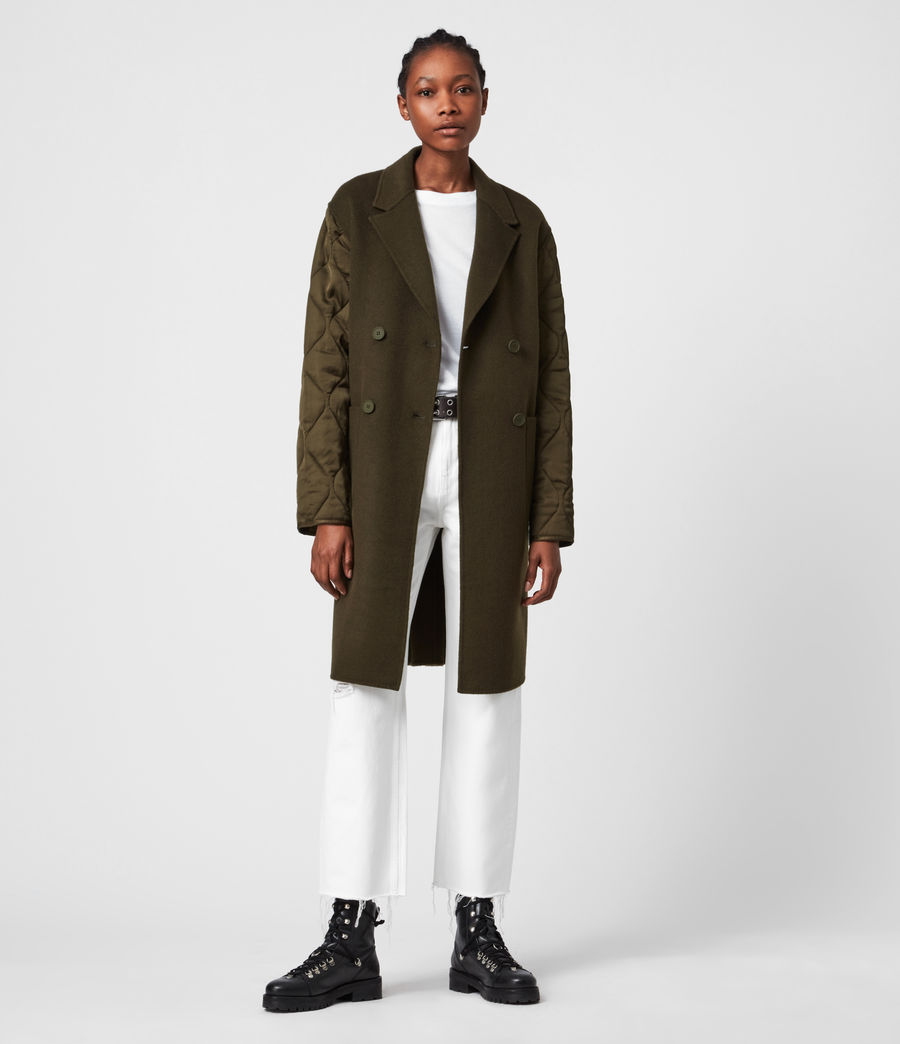 Women's Florence Coat (khaki_green) - Image 4