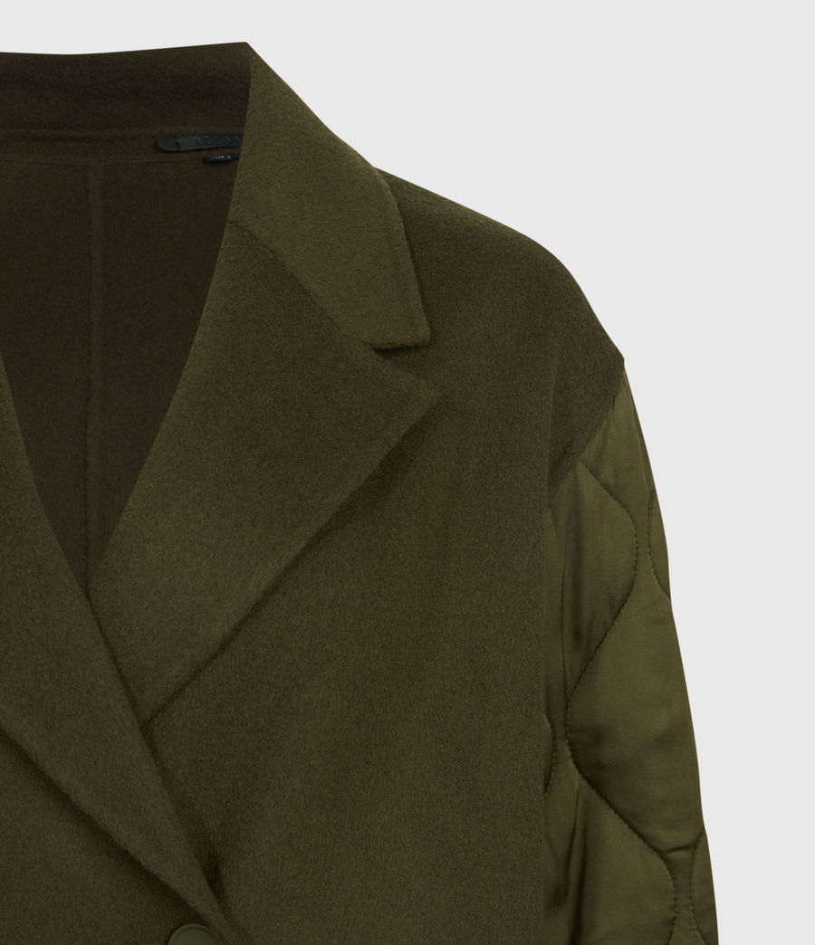 Women's Florence Coat (khaki_green) - Image 5