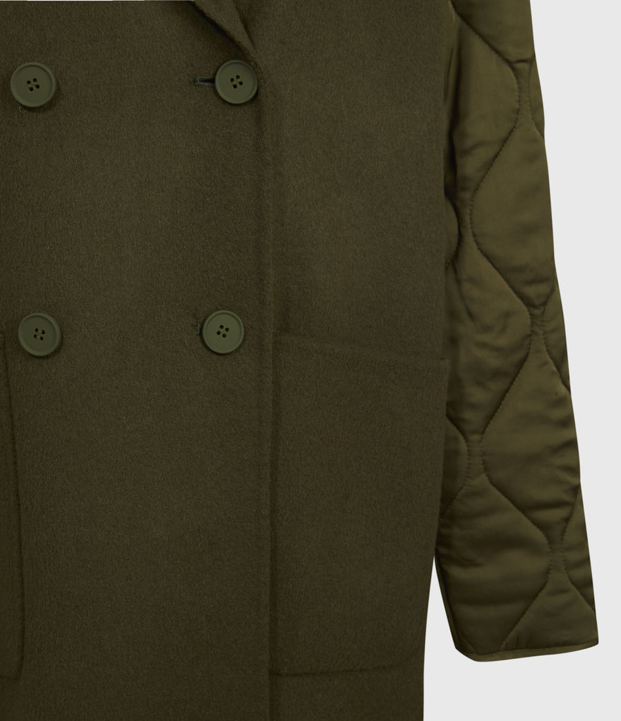 Women's Florence Coat (khaki_green) - Image 6